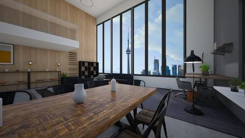 industrial living room - Living room  - by tessmcquillan