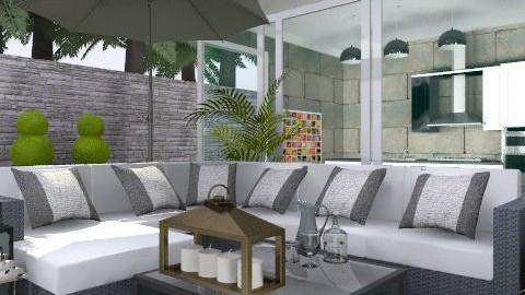 By The Pool - Modern - Garden  - by laurawoodley