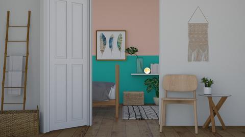Tropical Bedroom - Bedroom  - by chocolatedonut71