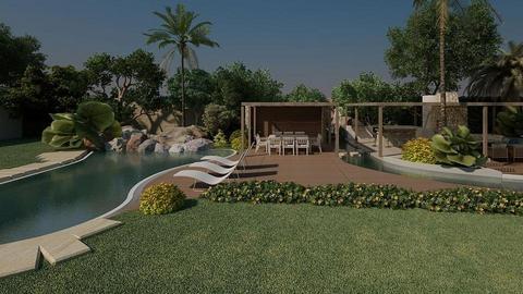 Villa landscaping design - by Designhubmalta