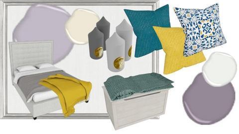 Taupe Mustard Bedroom - by CristinaMorariu