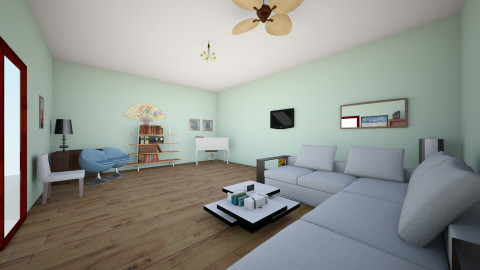 Sala1 - Living room - by Emelyn Cristal Rosario