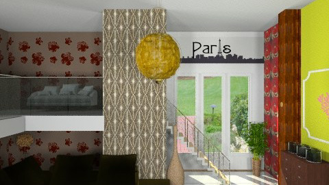 coloury living - Glamour - Living room  - by Veny Mully