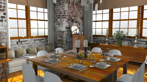 Hart (2) - Eclectic - Dining room  - by camilla_saurus