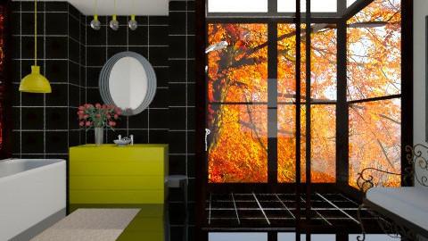 black yellow bathroom - Bathroom  - by popov_hristijan