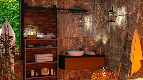 M_ Dark bamboo - Bathroom  - by milyca8