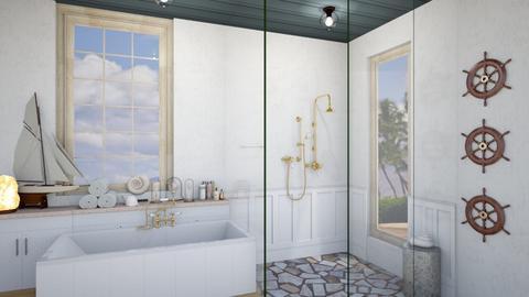 nautical  - Bathroom  - by rcrites457