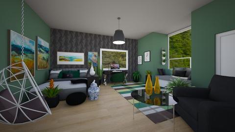 Student dorm contest  - Bedroom  - by Chrispow0105