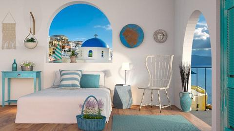 Modern Greek Bedroom - Eclectic - Bedroom  - by Sally Simpson