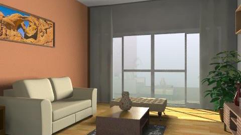 wood - Retro - Living room  - by magicadimitrova