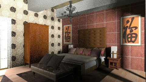 chocoate and oriental 2 - Glamour - Bedroom  - by Suzanne Hoskins