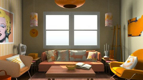 orange you happy - Retro - Living room  - by aduropluvia