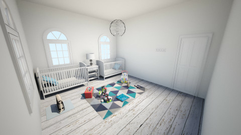 Twins Room - Rustic - Kids room  - by El2002