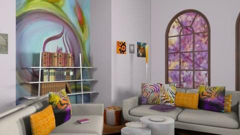 Mahra - Vintage - Living room  - by SariJo