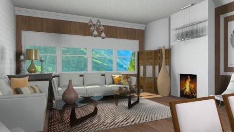 New Year Mountain Design - Modern - Living room  - by vesperart