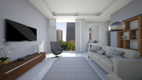 Sala Apartamento - Classic - Living room  - by Valeska Stieg