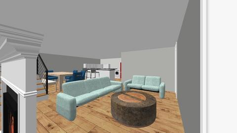 1er Piso Casa - Living room  - by larenas