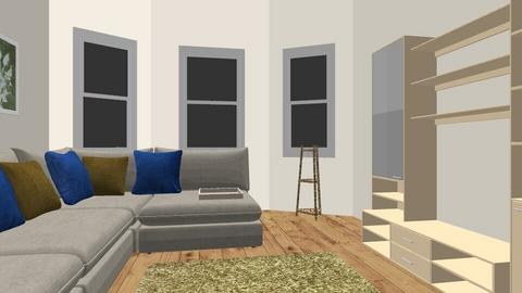 sectional against window - Living room  - by dogonlynose623