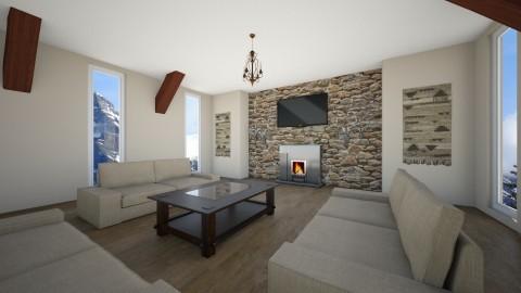Austins Man Cave - Rustic - Living room  - by Rachel Darby