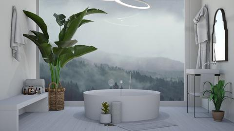 tranquil _ calm  - Bathroom  - by ash04