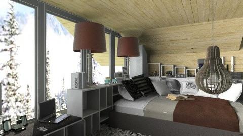 Bedroooom1 - Rustic - Bedroom  - by arkalintop3