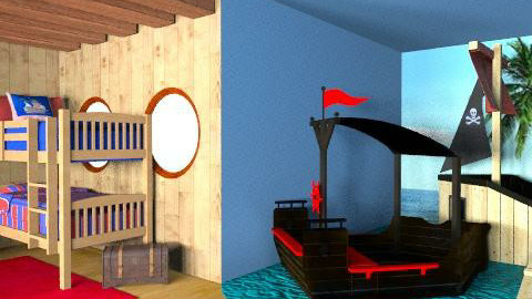 pirates - Eclectic - Kids room - by AC74