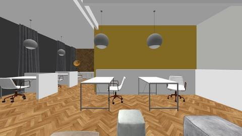 Yellow Working Space - Office  - by Vlad Silviu
