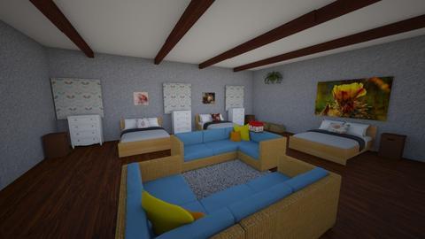 Edain shared bedroom - Rustic - Bedroom  - by emivim