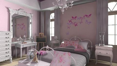 Sweet Darla Pink Bedroom - Classic - Bedroom  - by Cojo