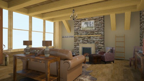 Rustic Living2 - Rustic - Living room  - by idna