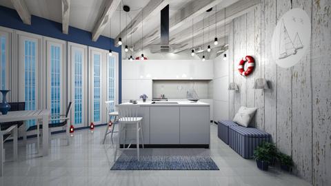 Nautical Kitchen - Kitchen  - by PRINZESSINBLUME