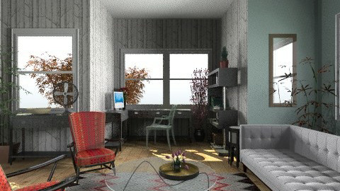 fawnsayofficeplace - Eclectic - Office  - by vintageIndie
