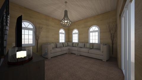 Rustic Living Room - Rustic - Living room  - by TheDino