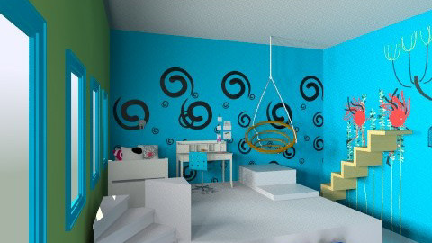 Up and down - Kids room  - by IZZYT2COOL