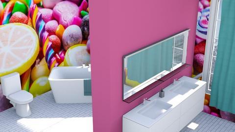 Candy Bathroom - Minimal - by designkitty31