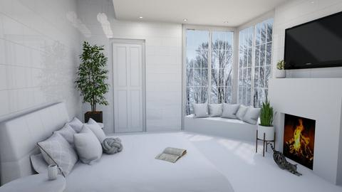Just White - Modern - Bedroom  - by designkitty31