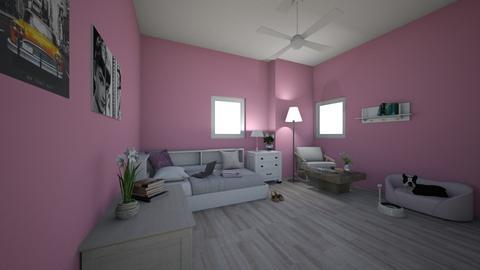 Magenta life  - Bedroom  - by Laura Laypanova