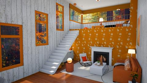 Orange and White - Living room  - by AstralRomances