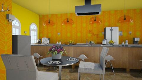 Zesty Kitchen - Eclectic - Kitchen  - by DiamondJ569
