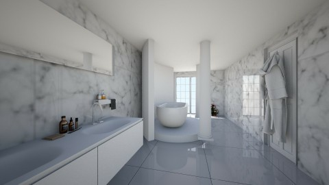 Marble Bathroom  - Glamour - Bathroom - by deleted_1506278320_Naomi Soden