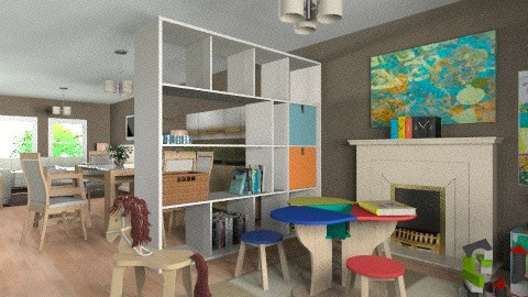 For JMLAT - Eclectic - Kids room  - by Theadora