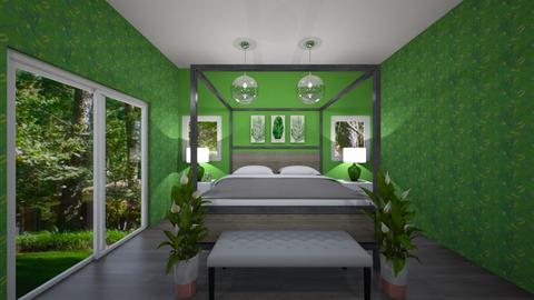Green Paradise - Bedroom  - by Tasteful Turtle