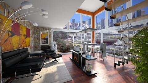 Top Penthouse - Modern - Living room - by Bibiche