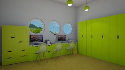 Yellow home office - Office  - by Shan da farm freak
