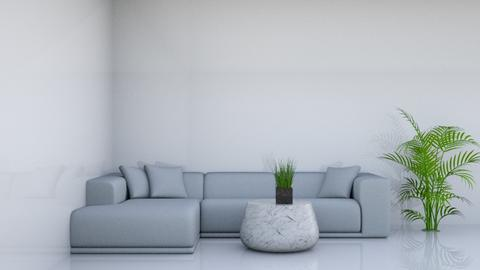white - Modern - Living room  - by rivkaoren01