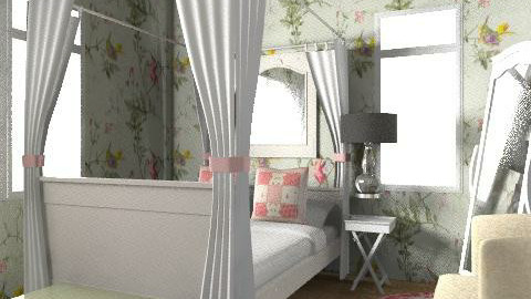 country bed - Country - Bedroom  - by EllieC