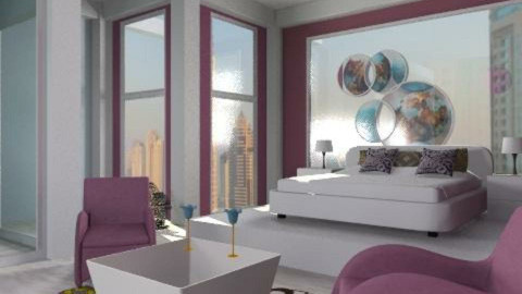 Romantic purple - Modern - Bedroom  - by liling
