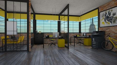Yellow Working Space - Office  - by MyDesignIdeas
