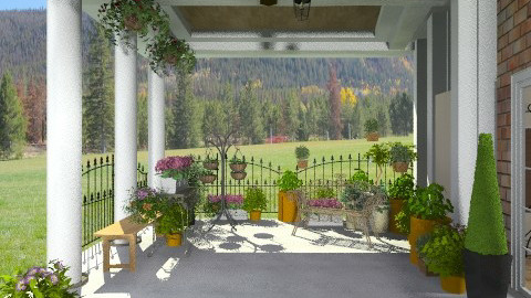 Posh Garden porch - Classic - Garden  - by shelleycanuck