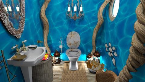 blue sea tiffany 3d - Bathroom  - by uniquecorn